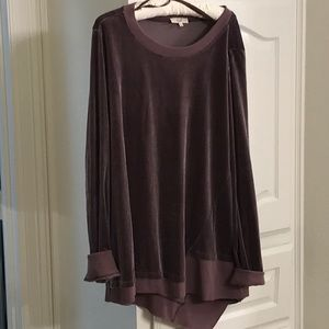 Easel pullover, plum colored top large
